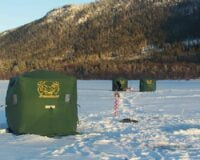 Isfisketelt i høyeste kvalitet! Icedream 143. 175cm/innv) x 175cm(innv) x 205cm(innv). Frakt er inkludert i prisen!